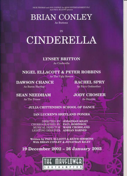 image MTA25143 - Cinderella Programme Brian Conley 2 of 4