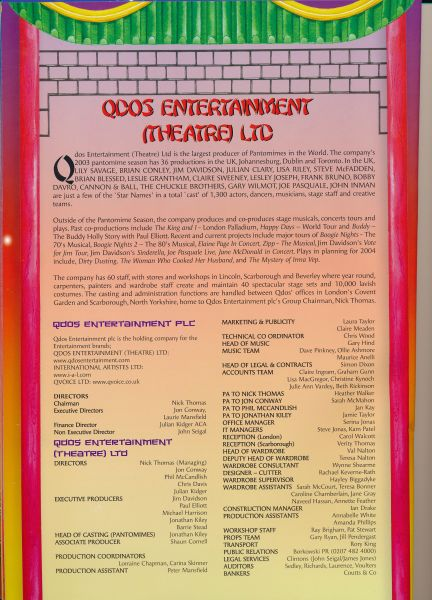 image MTA25144 - Jim Davidson Aladdin Programme 4 of 4